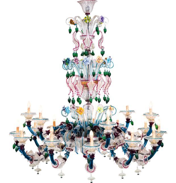 Striulli Vetri D'Arte Semi Rezzonico Murano glass chandelier, £35,100, from Artemest