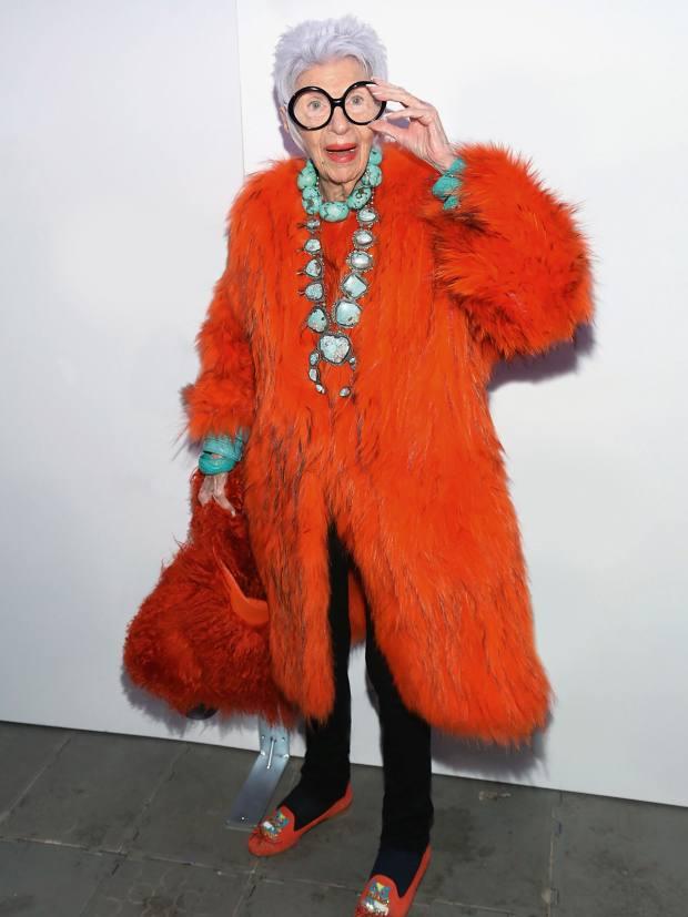 Her style icon, IrisApfel