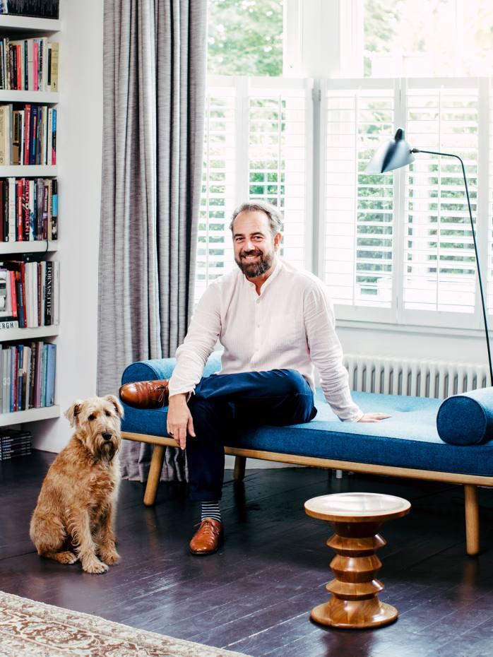 Paul de Zwart at home in London