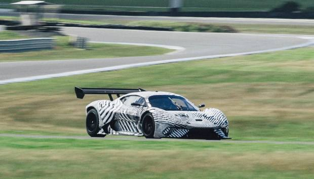 The BT62 is put through its paces on the testing circuit