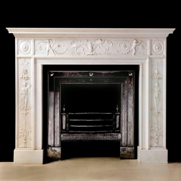 1782 marble fireplace by John Flaxman, £295,000 from James Graham-Stewart