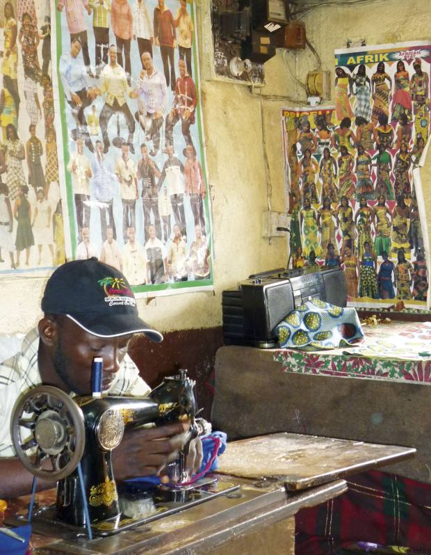 At NearFar in Sierra Leone where child soldiers are trained as tailors.