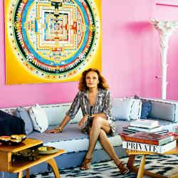 Diane von Furstenberg at her studio in New York