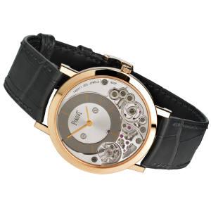 Piaget 18ct gold Altiplano watch on alligator strap, £21,200