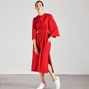 Cotton Raminta shirt dress in red, £260