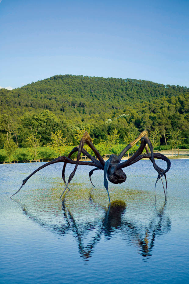 The Château La Coste estate with Crouching Spider, 2003, by Louise Bourgeois