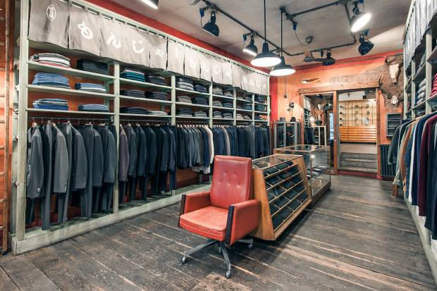 Italian fashion label Strategic Business Unit's shop in Rome