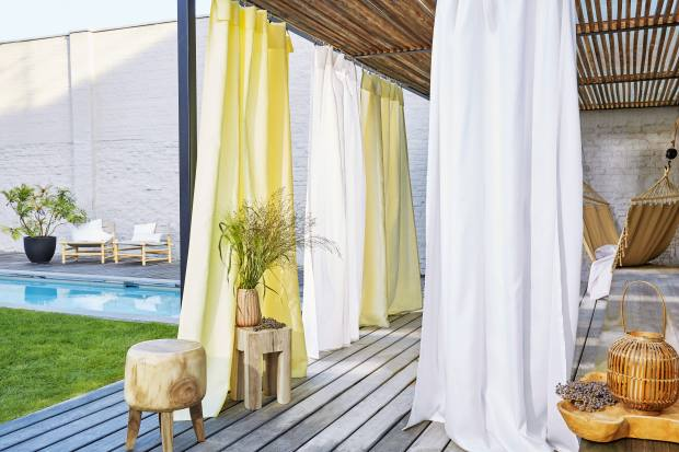 Sunbrella acrylic curtains from the Windows Collection, from £73.85 per m