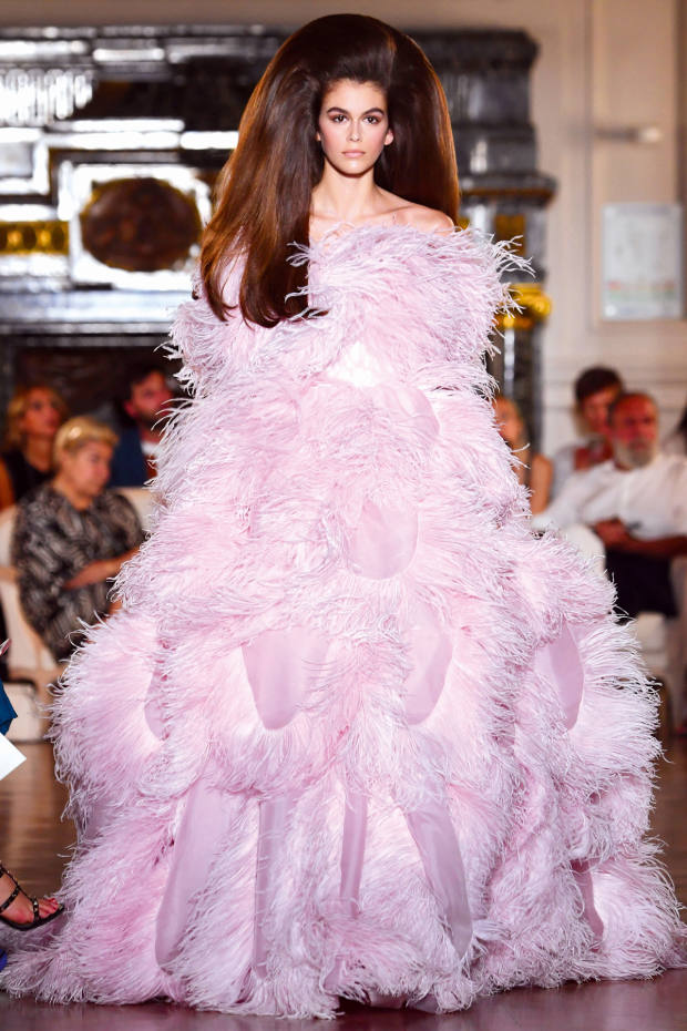 Kaia Gerber modelled for the brand at couture week
