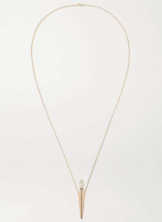 Diane Kordas rose-gold and diamond necklace, £15,380, net-a-porter.com