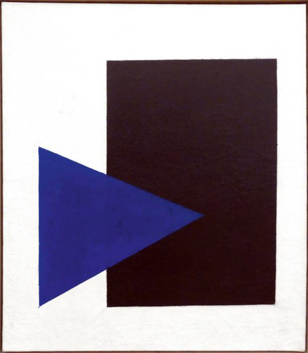 Suprematism with Blue Triangle and Black Rectangle (1915) by Kazimir Malevich