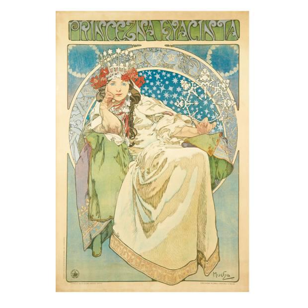 Princezna Hyacinta, 1911, by Alphonse Mucha, $15,000 to $20,000