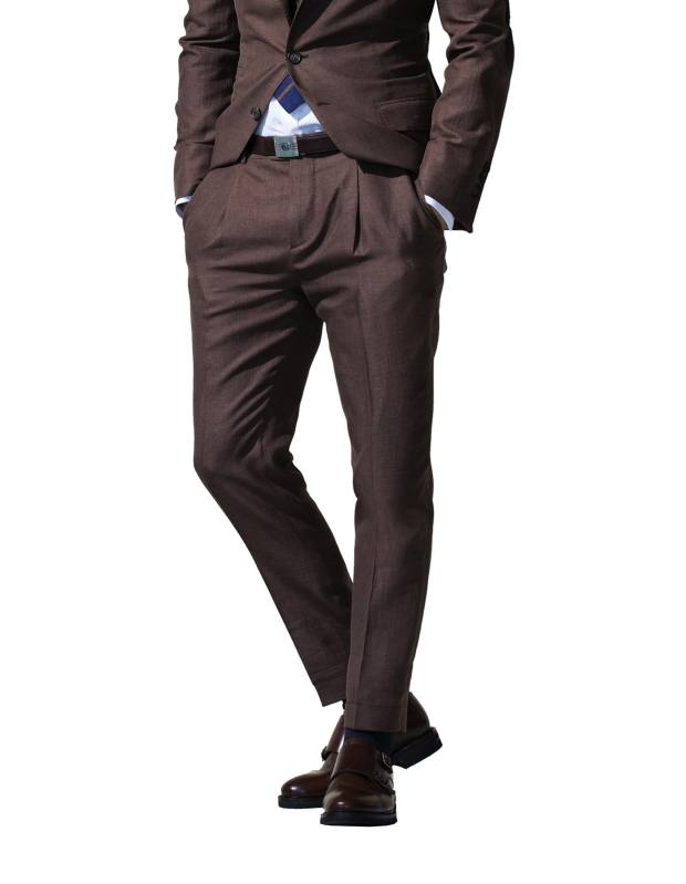 Brunello Cucinelli cotton/wool/silk trousers, part of suit, £2,240