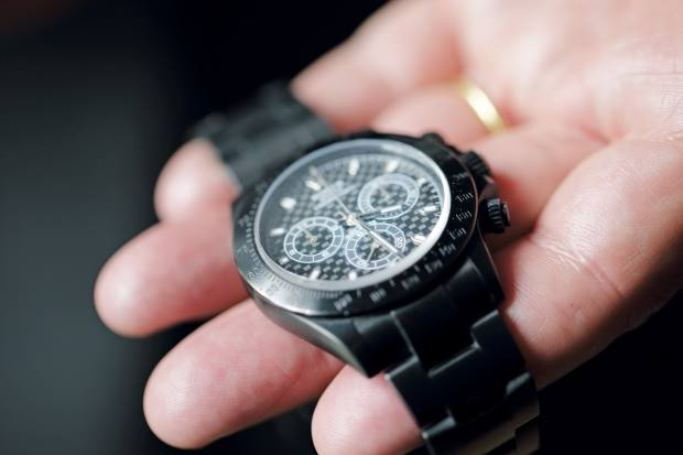 Perrin's carbon-coated Rolex Daytona
