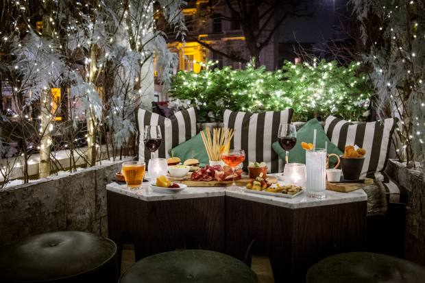 Cocktails and the chef's signature fare will be offered at the The Portico at The Kensington London