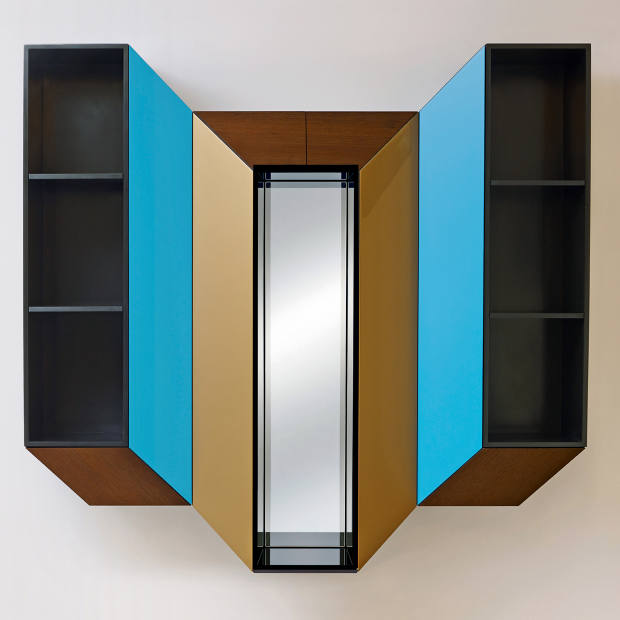 Lacquered wood, wenge and mirror Cinétisme IV cabinet by Charles Kalpakian, €9,000