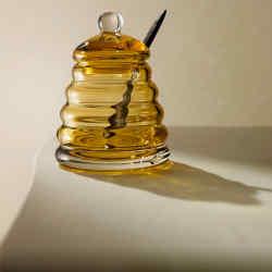 Crystal honey jar, £85