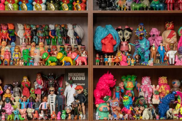 Chen Fei organises his collection – some thousands of toys – by designer in a dedicated room in his Beijing home