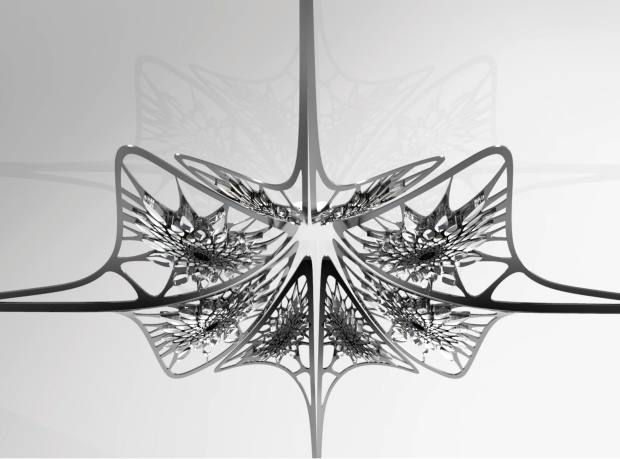 Crystal and patinated metal Chandelier Lisse, price on request, through David Gill