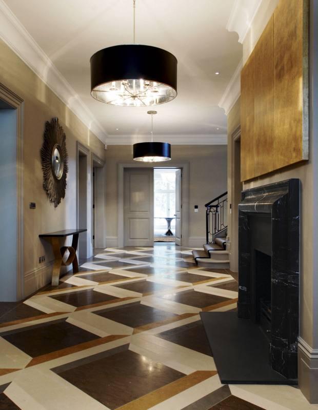De Ferranti trompe l'oeil marble floor, designed by Charlotte Crosland, £660 per metre