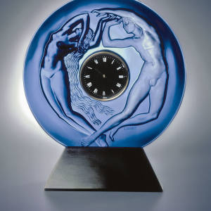 1920s Lalique Day and Night clock