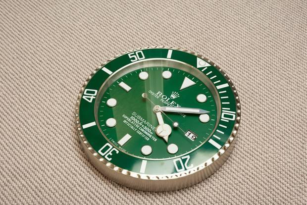 Her Rolex wall clock