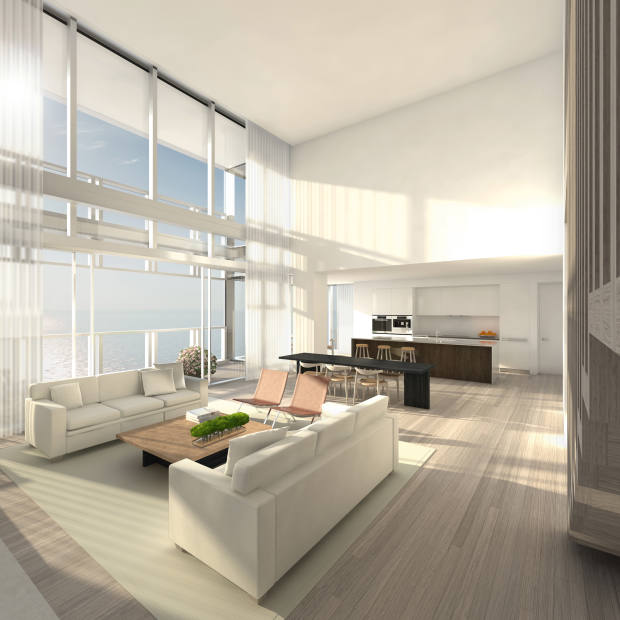 One of 26, one-of-a-kind Miami Beach Edition residences designed by John Pawson
