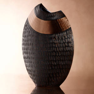 Banbayu Coppi Leaf vase: 20cm, £69; 24cm, £79; and 27cm, £89