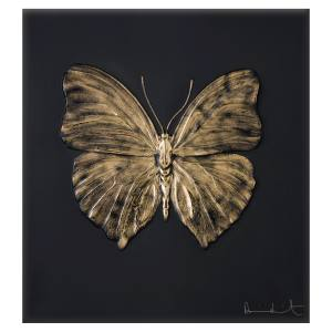 Lalique limited-edition Eternal Love panel (41cm x 37cm x 3cm) by Damien Hirst, in crystal and gold, £25,000. Also in other colours/materials