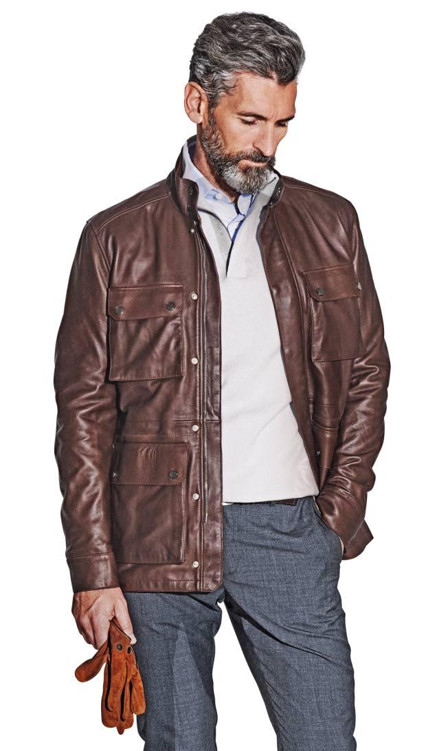 Aston Martin by Hackett nappa leather jacket, £950