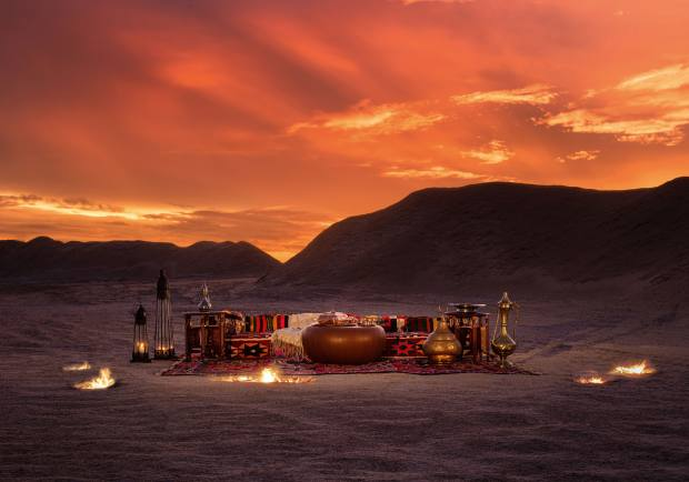 Dining in the desert at Anantara Tozeur, on the edge of the Tunisian Sahara