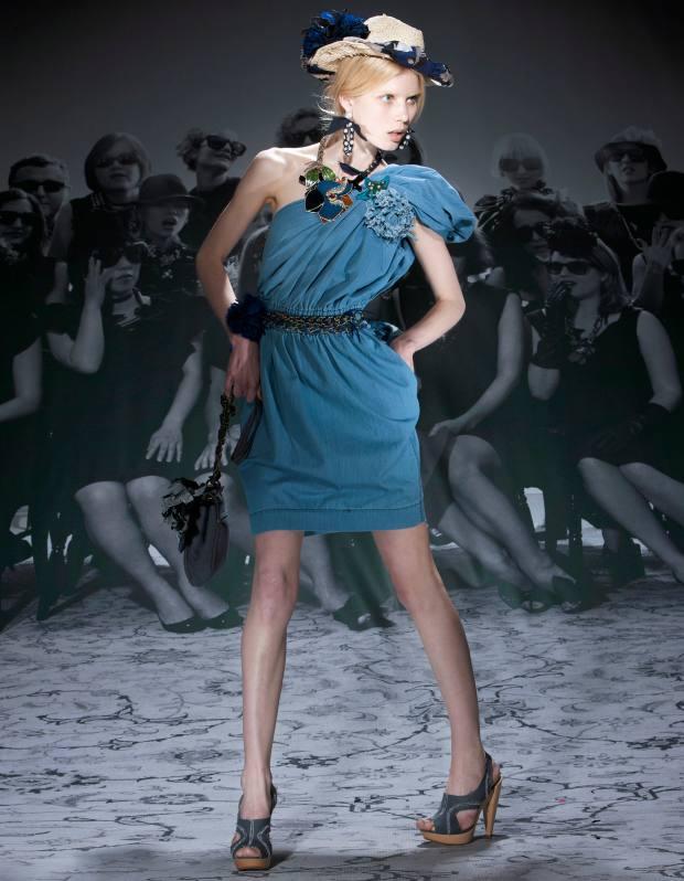 Denim dress by Lanvin.