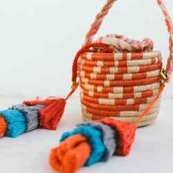 Maison Alma wovenbucket bag, $719