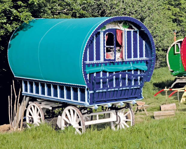 Vintage wagons for hire on a Devon farm, courtesy of Cool Stays