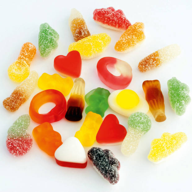 A selection of Haribo sweets