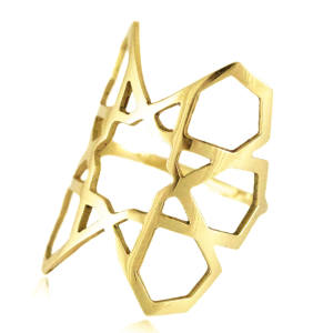 18ct-gold ring, £730, from the Arabesque Deco collection