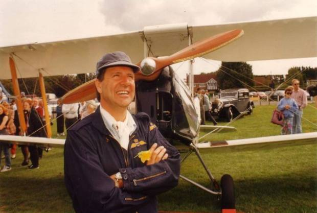 John Fisher, whose extensive collection of aircraft memorabilia is now being auctioned