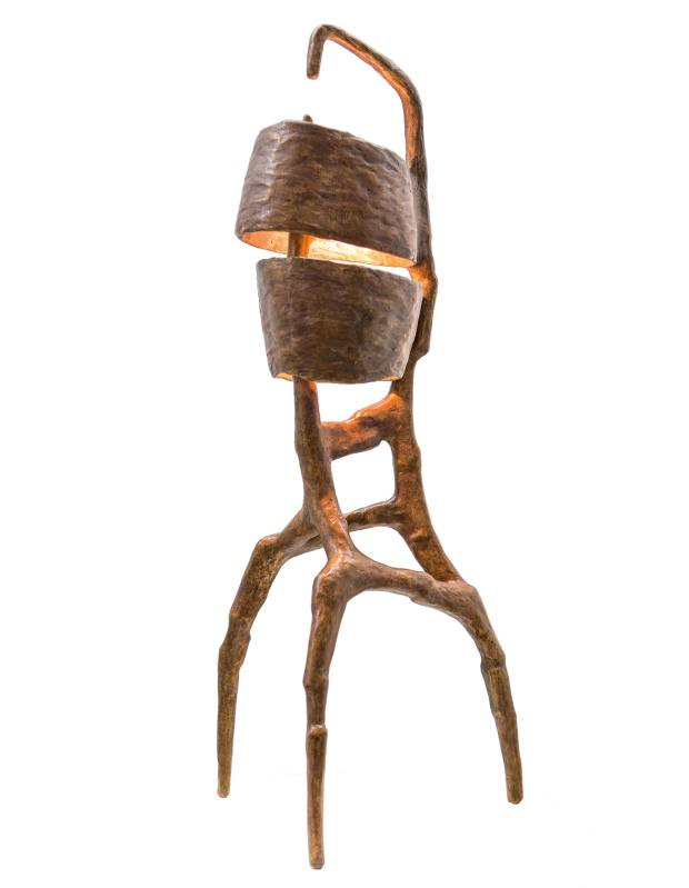 Charles Trevelyan patinated-bronze BiPartite lamp, from €10,000, from Carpenters Workshop Gallery