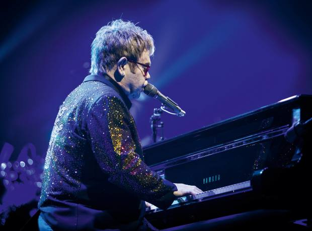 Elton John in concert at the Friends Arena in Stockholm