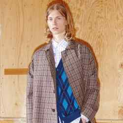 Stella McCartney's spring collection features chunky cardigans, £480, and embroidered check shirts, £355