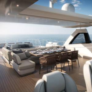 The Princess 35M M Class superyachts flybridge