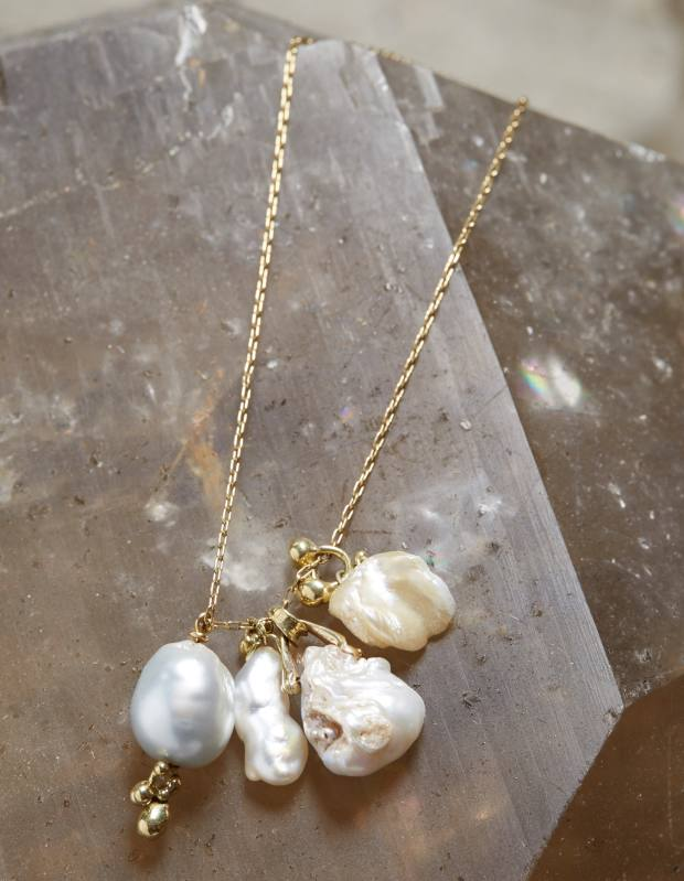 American natural pearl charm necklace, $3,720