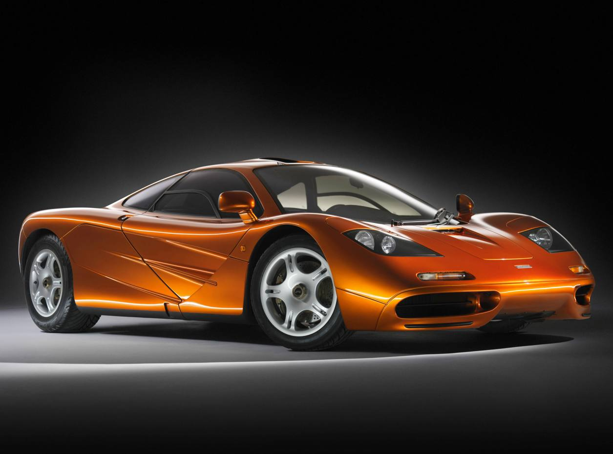 McLaren's F1, boasting carbon-fibre body panels and an engine bay lined with gold foil.