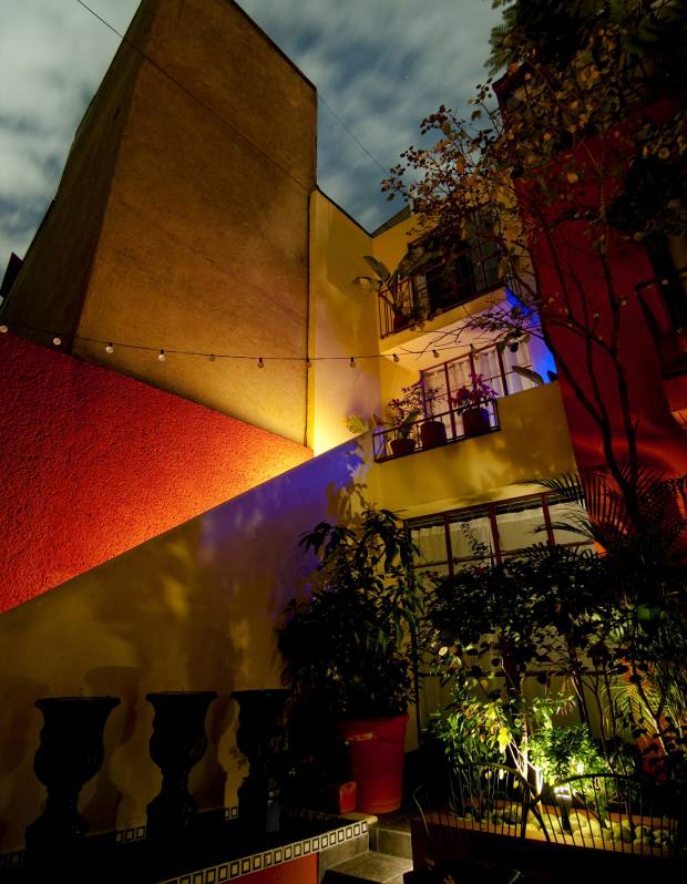 The Red Tree House hotel in the Condesa district.
