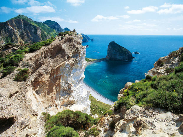 The Pontine Islands are famous for their sculptural rock formations jutting out of the sea