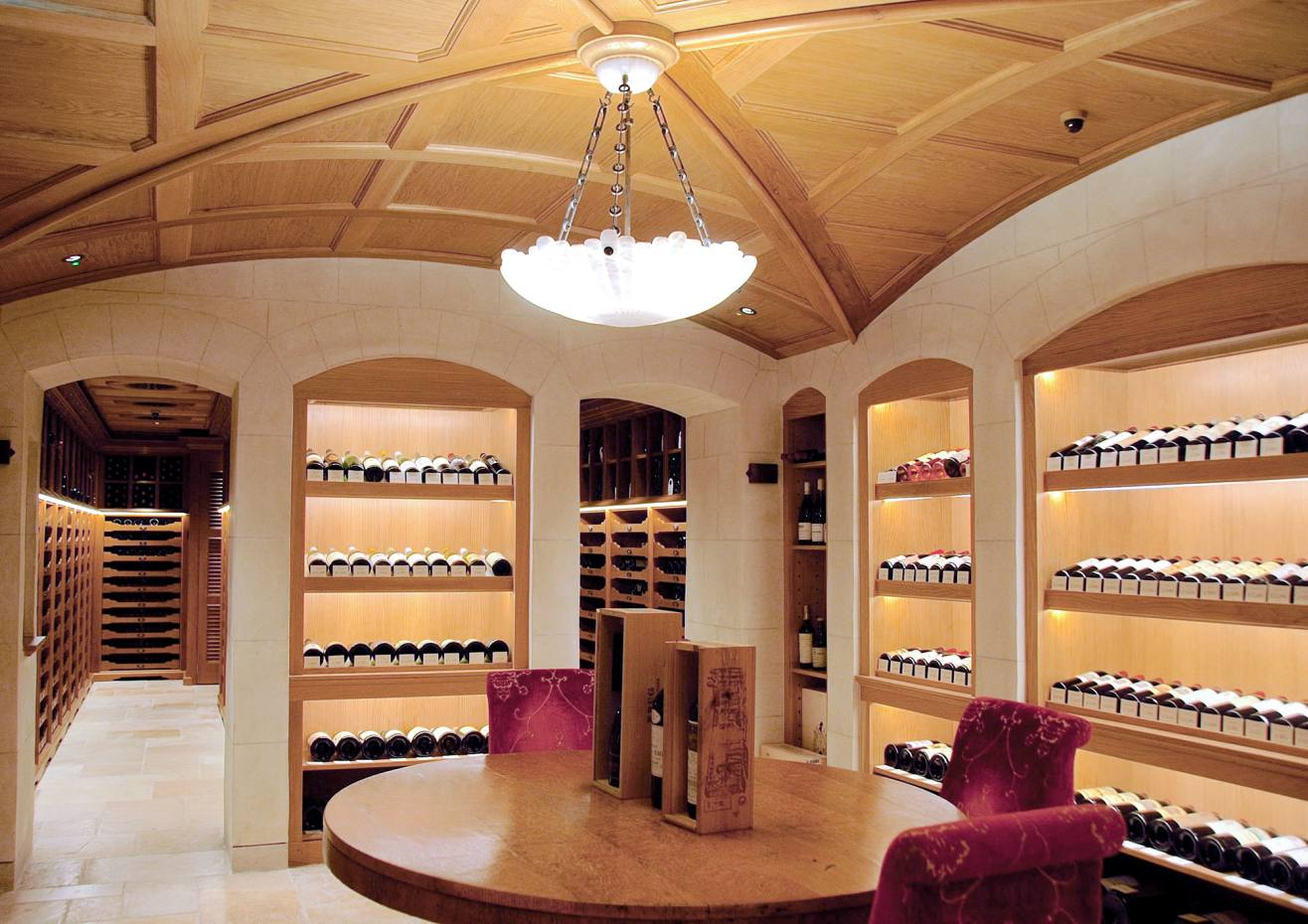 Members can keep up to 12 bottles in Oswald's cellar