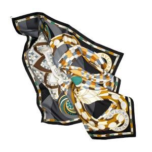 Bulgari Cleopatra scarf (90cm sq) in silk twill, £315. Also in red colourway