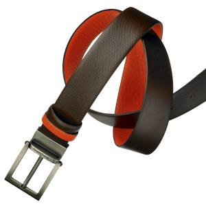 Oliver Sweeney Malmsey reversible belt (3.5cm wide) in leather with brass buckle, £99. Also in other colours
