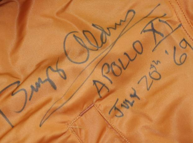 Buzz Aldrin's signed Apollo 11 training suit, which Paul Fraser Collectibles sold for £75,000