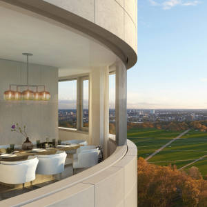 Aview from the 18-storey tower Bryanston Hyde Park